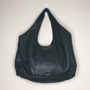 Kooba Leather Forest Green Hobo Bag